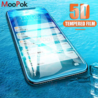 Moopok 5D Full Cover Tempered Glass for iphone X 10 Protective Glass Screen Protector for iPhone 10 X 9H Protective Glass film