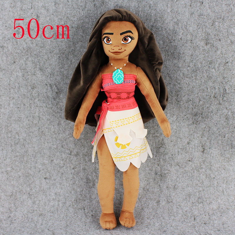 50cm Moana Princess Maui Chief Plush Toy Soft Stuffed Dolls For Kids Gift