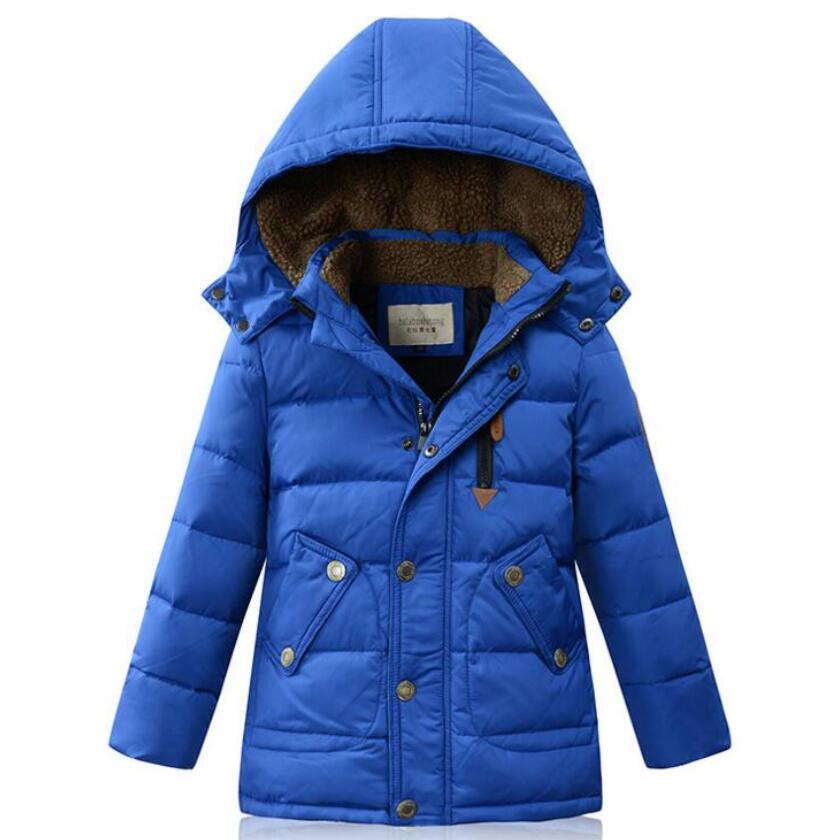 -35 Degree Children boys Down/Parkas kids Thicken warm duck down jackets hooded boys outdoor ski outwear 4 colors 5-14Y
