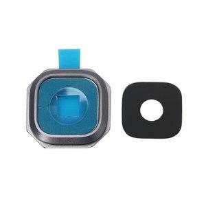 Image 2 - 1 Juego de cubierta de cristal de la Lente de la cámara trasera con soporte de marco para Samsung Galaxy A310 A510 A710 A3 A5 A7 2016 piezas de repuesto