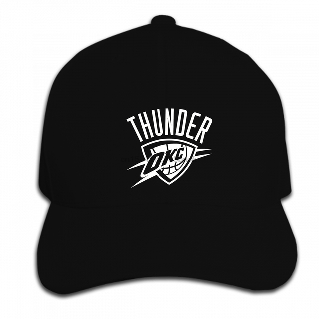 148d84e08f1 Print Custom Baseball Cap Hip Hop OKC Black Fan Oklahoma City Russell Thunder  Hat Peaked cap