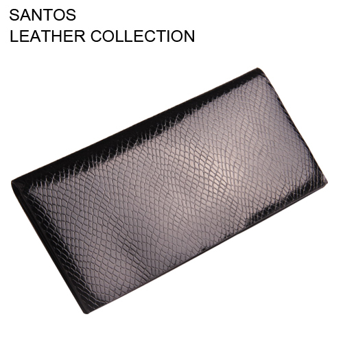 Santos Free Shipping + Snake Pattern Leather Wallet + Leather Wallet  Man + Credit Card Wallet
