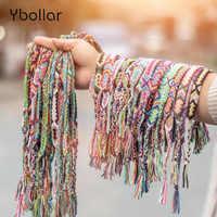 1pc Colorful Woven Braided Friendship Bracelet Handmade Brazilian String Cotton Cord Hippie Surf Men Women Jewelry Gift Bohemian