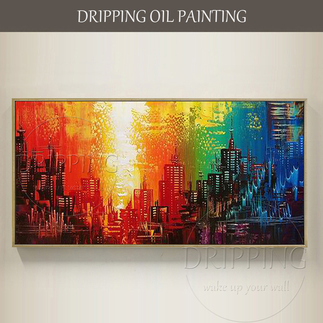 Painter Hand Painted High Quality Modern Abstract Oil Painting On Canvas Cheap Price Colorful