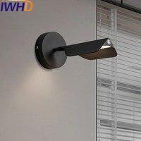 Iwhd угол Регулируемый Настенный Бра зеркало, светильник стены Современная мода железный Спальня рядом с затемнения hanglamp сенсорный выключат