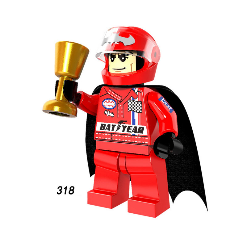 Single Sale Super Heroes Star Wars 318 racing driver Batman Building Blocks  Figure Bricks Toys gifts Compatible Legoed Ninjaed