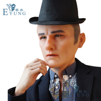 Eyung 2019 Bell silicone male mask High realistic artificial intelligence crossdresser cosplay