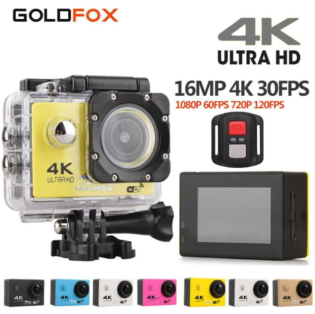 Goldfox H9 Style 16MP 4K 30FPS Action Camera 30M Go Diving Pro Waterproof Wifi Sport DV Sports Video Camera Mini Car Cam DVR goldfox h9 ultra hd 4k action camera 170d wifi sport camera dv 30m underwater cam go waterproof pro bike helmet car camera dvr