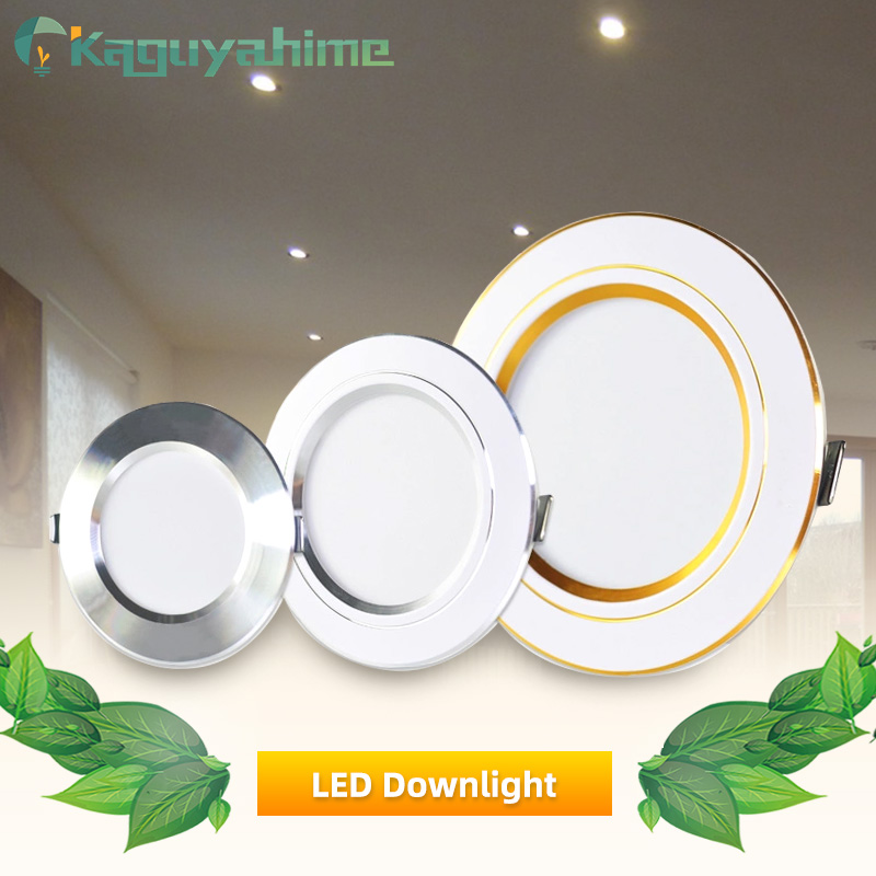 Downlight LED 18W 15W 12W 9W 5W 3W Lamp Spot Light AC 220V 240V High Bright Ultra Thin Lamp Indoor Round Recessed Downlight