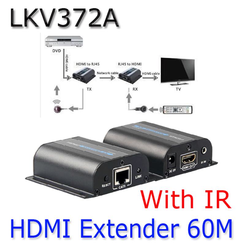 buy lkv372a hdmi 1080p extender with ir converter up to 60m video audio full hd. Black Bedroom Furniture Sets. Home Design Ideas
