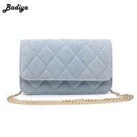 Trendy Plaid Jeans Cloth Solid Waist Bag Adjustable Chain Bag Single Shoulder Bag Women Shopping Bags