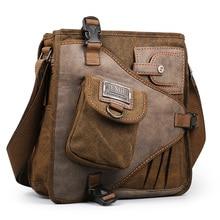 2017 Ruil Retro Canvas Shoulder Bags Multifunction Man Leisure Tooling Messenger Package Vintage Handbag European American Style