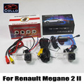 For Renault Megane 2 II / Car CCD Rear View Camera + Laser Rear Fog Lamp / 2 In 1 Collision Avoidance Active Safety System / DIY