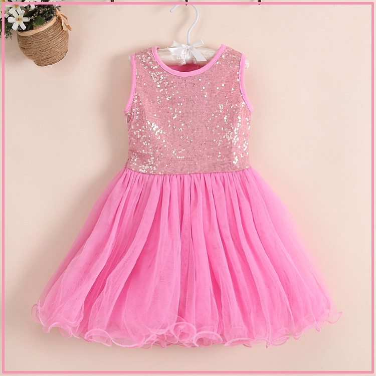 Sparkly Pink dress for kids