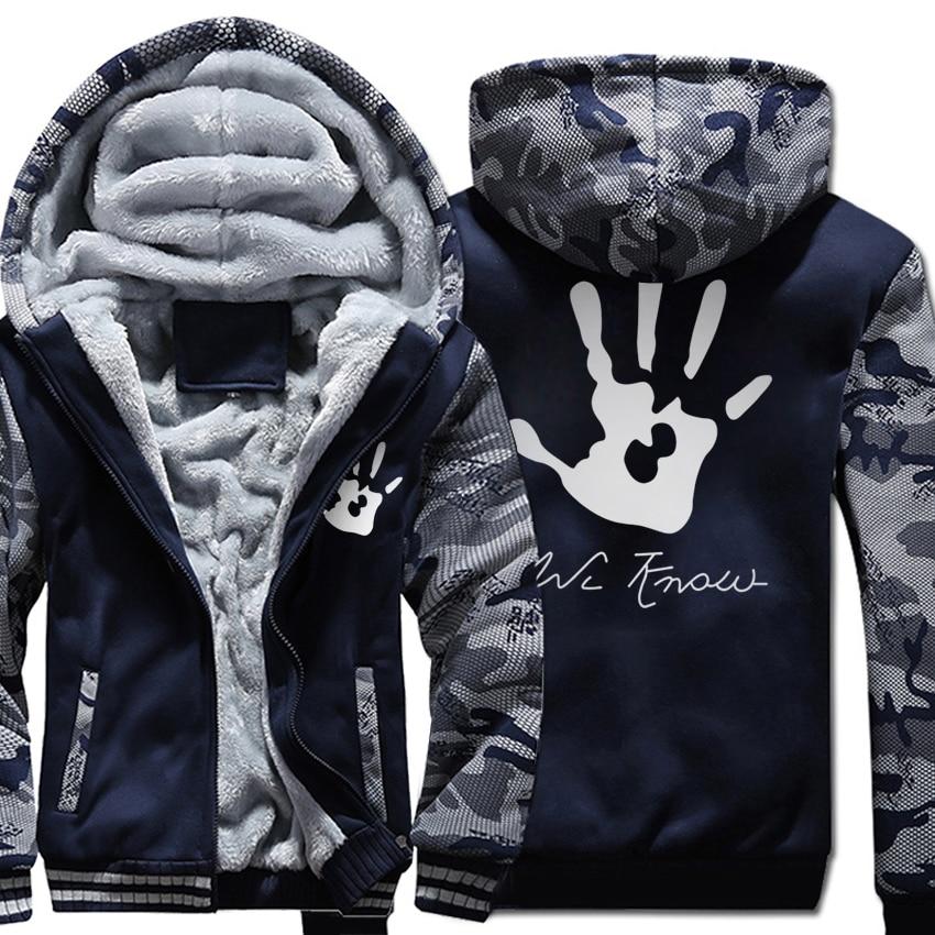 Skyrim Dark Brotherhood Print Streetwear Harajuku Hoodies Men 2018 Winter Jacket Fleece Thick Sweatshirt Harajuku Kpop Hoody Men