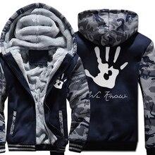 Skyrim koyu kardeşlik baskı Streetwear Harajuku Hoodies erkekler 2018 kış ceket polar kalın kazak Harajuku Kpop Hoody erkekler