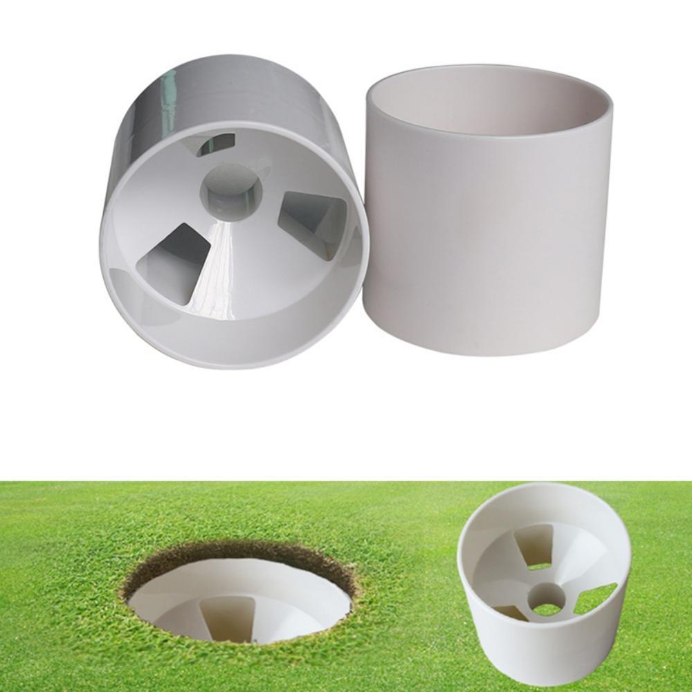 Golf Training Aids Plastic Golf Hole Cup Golf Flag Stick Yard Garden Training Backyard Putting Putter Practice Putting White