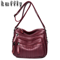 KMFFLY Fashion Women Leather Bag Luxury Handbags Women Messenger Bags Designer Sac A Main Day Clutches