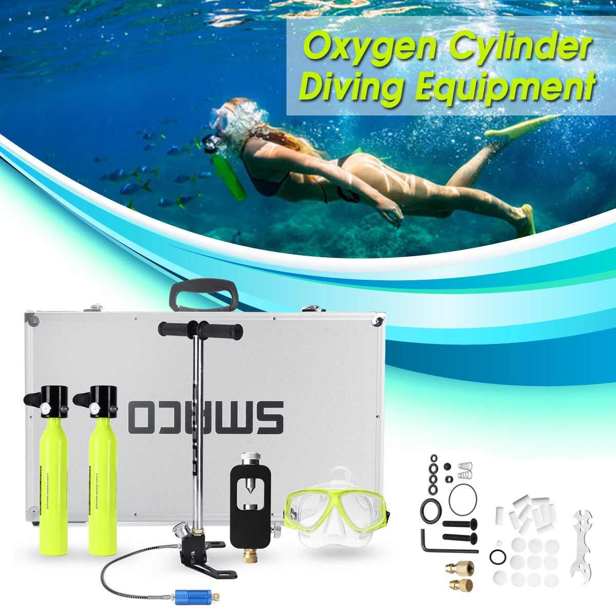 8 Set Mini Portable Scuba Diving Equipment 2pcs Oxygen