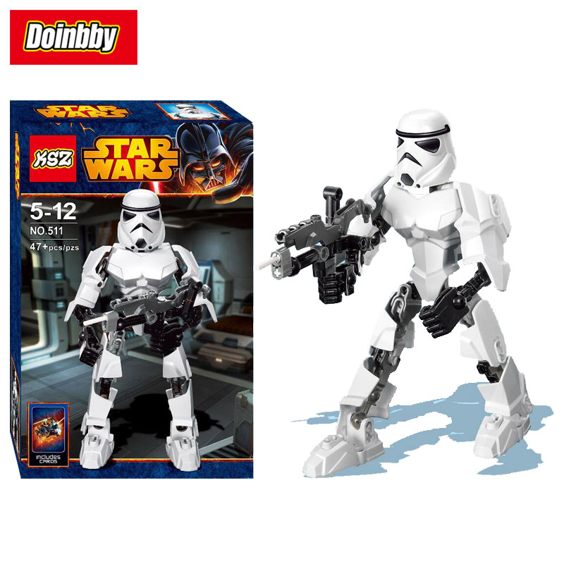 Creative KSZ 511 Mini premier ordre Stormtrooper Figure bloc de construction jouets compatibles Legoings Star WarsCreative KSZ 511 Mini premier ordre Stormtrooper Figure bloc de construction jouets compatibles Legoings Star Wars