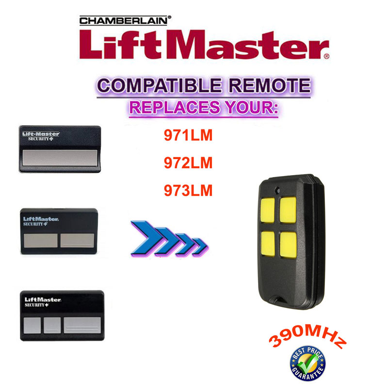 390mhz Liftmaster Remote Control Replacement 971lm 972lm