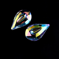 76mm 10pcs AB Crystal Chandelier Parts Crystal Pendants For Chandeliers K9 High Grade &Wedding Crystal Lamp Accessories