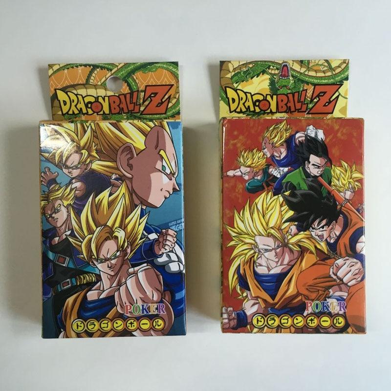 Anime Super Saiyan Goku Death Note Attack on Titan NARUTO Hatsune Miku Playing Cards PVC Figure Toys 8X6CM