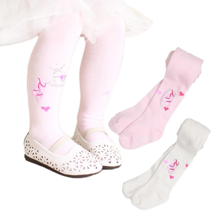 Infant Princess Toddler Girls Ballet Dance Tights Lace Stocking Cotton Pantyhose