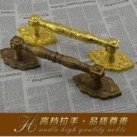 365mm Wooden Glass Door Pulls Antique High Quality Door Handles RED Bronze Golden Home Ktv Hotel