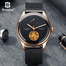 Bestdon Мужские часы лучший бренд класса люкс автоматические механические тourbillon цветные часы с самообмоткой водонепроницаемые из нержавеющей стали