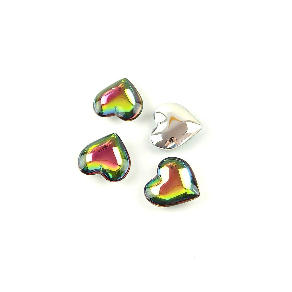 45mm heart pendant 30pcs pink 40mm balls