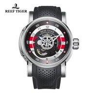 2018 новый дизайн Риф Тигр/RT роскошные мужские спортивные часы Водонепроницаемый 100 м Механические часы каучуковый ремешок Сталь часы RGA30S7