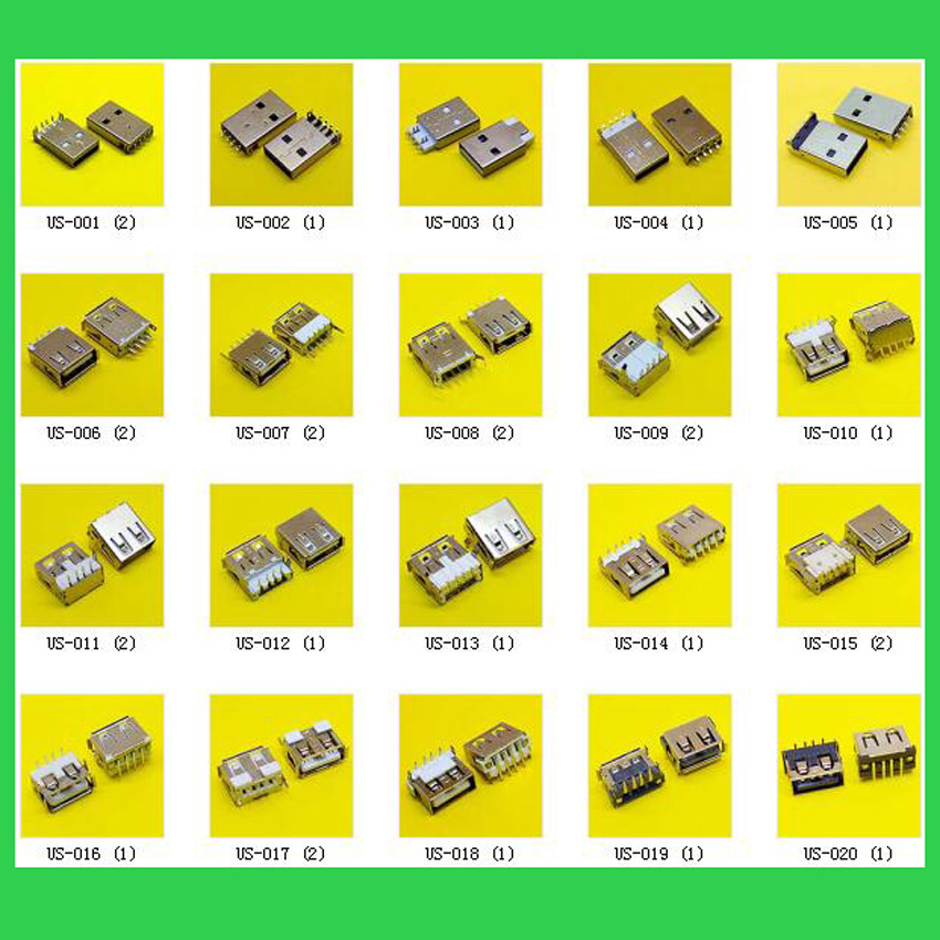 Wholesale 120models, 120pcs/lot Laptop 2.0 USB 3.0 Female Jack Connector Sockect For ACER/ASUS/HP/ DELL/Toshiba/Sony/Lenovo/..