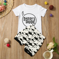 MUQEW Kids Boys Clothing Set Summer Newborn Casual Infant Baby Girl Boy Letter T shirt Tops Shorts Pants Outfit Clothes Set