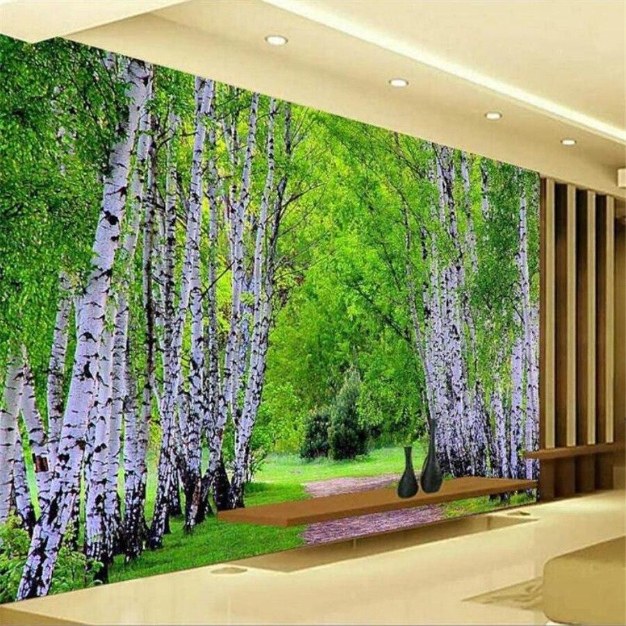 Bande Papier Peint Salon ⑧beibehang personnalisé papier peint 3d photo murale forêt