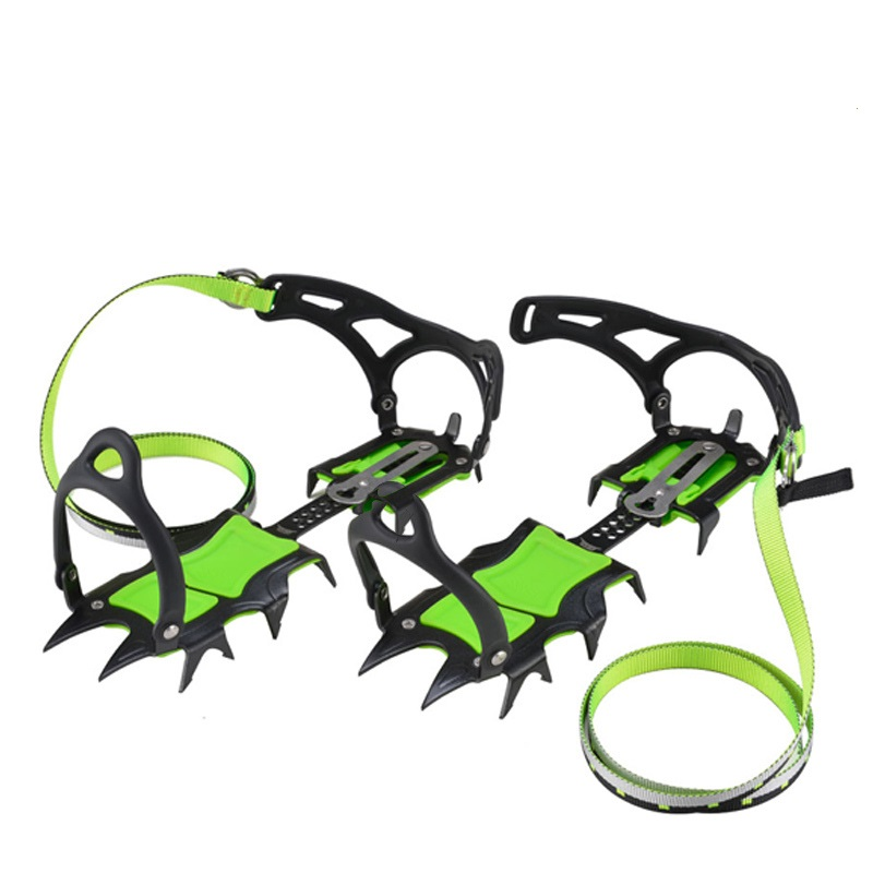Fourteen Teeth Short Teech Bundled Crampons Ice Gripper Mountaineering Equipment Climbing Gear Shoes Hiking Boots