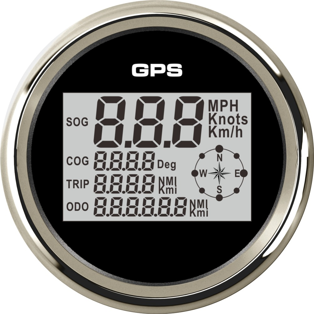 1pc 85mm gps speedometers 0-999 digital speed odometers trip meters sog cog with 8 kinds backlight color for car motorcycle 1pc brand new auto tuning gauges 85mm gps speedometers 0 200km h lcd speed indicators with red backlight and antenna for sale