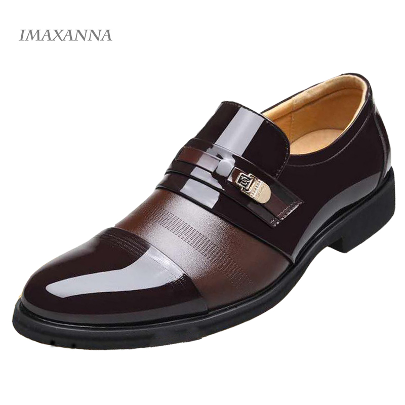 IMAXANNA New 2018 Men Casual Shoes Leather Breathable Holes Luxury Brand Flat Shoes For Men  Plus Size 38-48