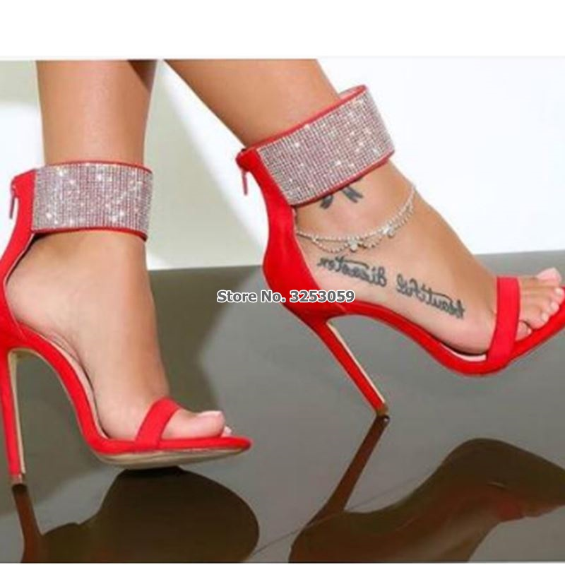 Red And Silver High Heels