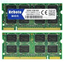 Reboto DDR2 2 ГБ 4 ГБ (2X2) 667 МГц 800 мГц PC2-5300S 6400 S памяти для ноутбук ОПЕРАТИВНОЙ ПАМЯТИ хорошее качество Полностью совместим