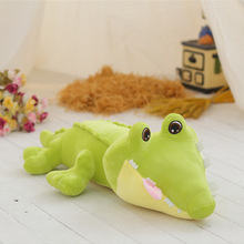 45/70/100cm Big Size Crocodile Lying Section Plush Pillow Mat Soft Stuffed Animal Toy Cartoon Dolls Kids G