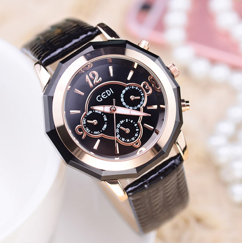 Fashion Watches Women Top Luxury Brand Leather Ladies Dress Quartz Watch Woman Wrist Watch Relogio Feminino Hodinky Reloj Mujer 2016 new fashion geneva women watch diamonds dress ladies casual quartz watch leather wrist women watches brand relogio feminino