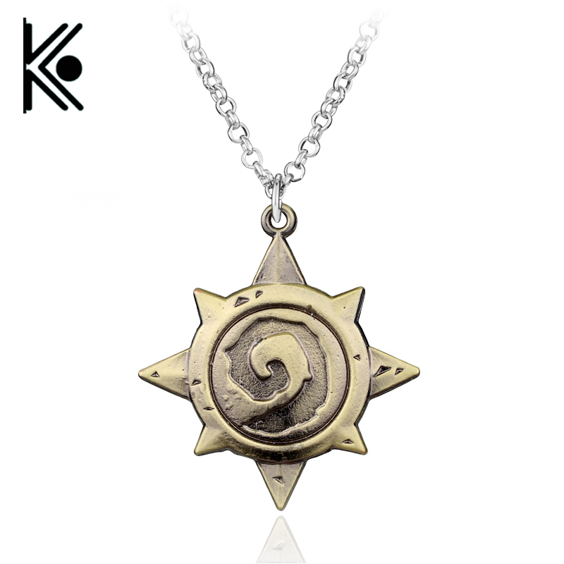 Game jewelry DOTA 2 War craft Necklace WOW necklace game marks Gamers talisman for birthday gift