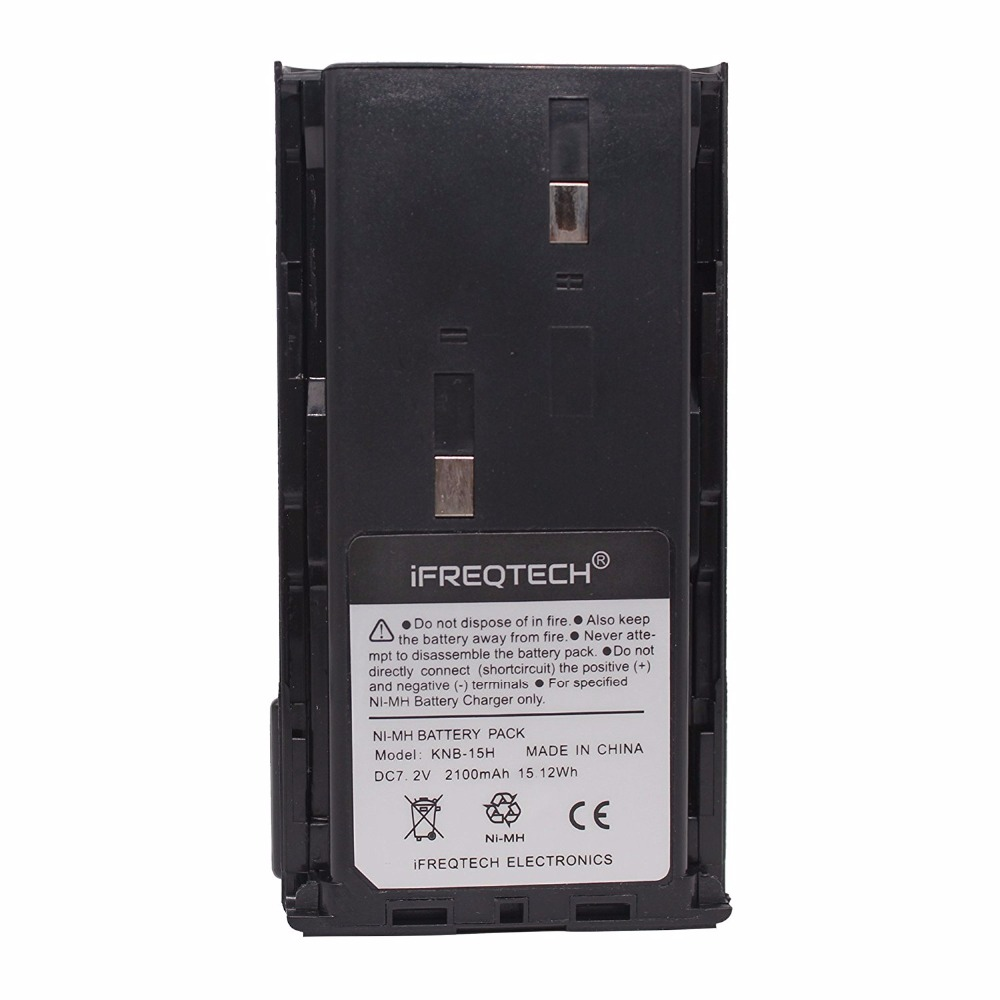 KNB-15H 2100mAh REAL Capacity Ni-MH Battery For KENWOOD TK-2102 TK3107 TK260 TK360 TK270 TK370 TK272 TK372 TK388 TK3100 Radio
