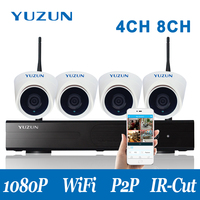 1080P Security Camera Kit With Wifi Connect Wireless NVR System P2P IP Camera Set