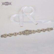 Cummerbunds rhinestone оголовье свадебное цветочные роскошные пояс ремень кристалл платье женщин