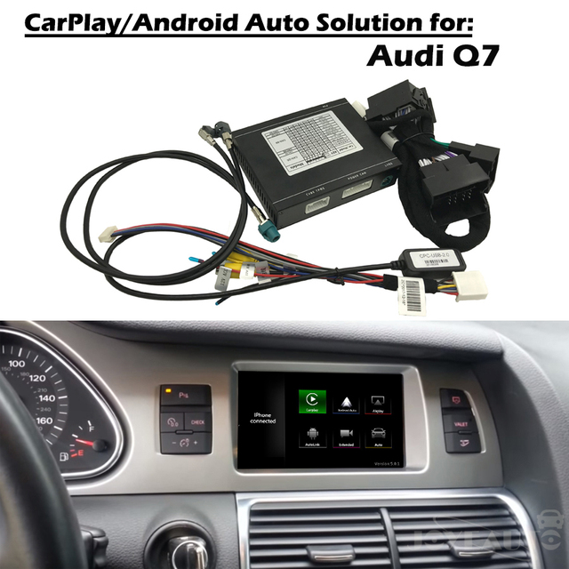US $267 38 19% OFF|Aftermarket OEM Apple Carplay Android Auto Upgrade Q7  MMI 3G 3G+ Smart Apple Car Play Box with IOS Airplay with Waze Spotify-in  Car