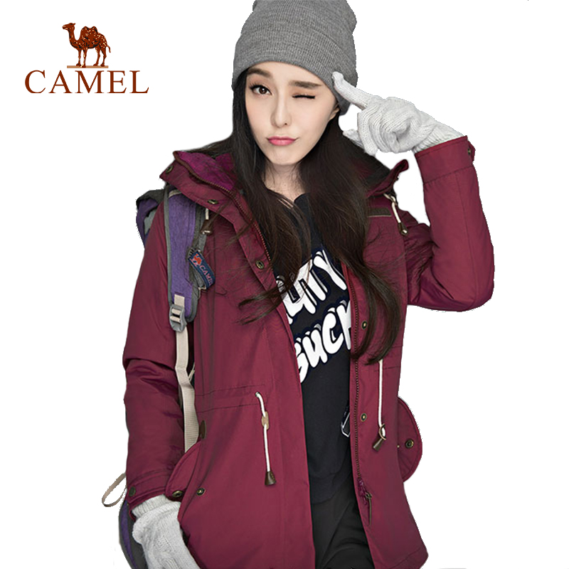 camel outdoor jacket 3 in 1 women windproof waterproof jacket female camping hiking jackets rain windstopper windbreaker CAMEL Women's Winter Inner Fleece Outdoor Jackets Thermal Waterproof Windproof Sports Camping Hiking Female Hiking Jacket