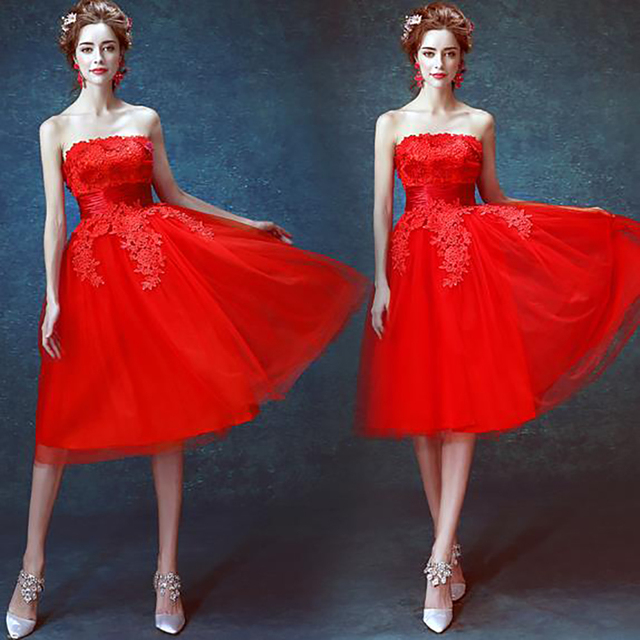 d483638b2c2 2016 luxury red lace cocktail dresses strapless off the shoulder knee  length dress cocktail,2416,ty,hd