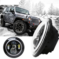 "Pair 4X4 Accessories Off road Headlight 45w CREES Head light Led With Daytime Halo 7"" Led Headlamp Angel eyes for jeep wrangler"